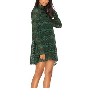 Free People green, bell sleeve dress.